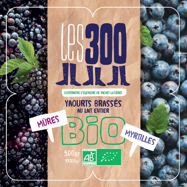Co-création packaging Coopérative Les 300 par GL COCRÉA