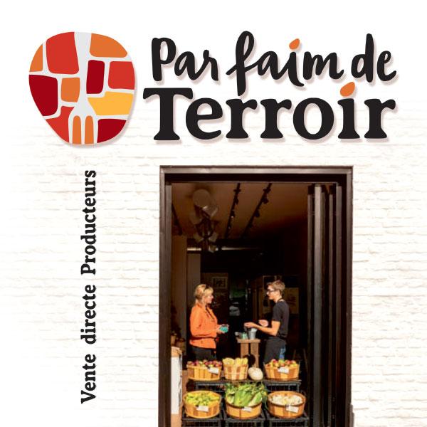 Co-création logo Par faim de Terroir par GL COCRÉA