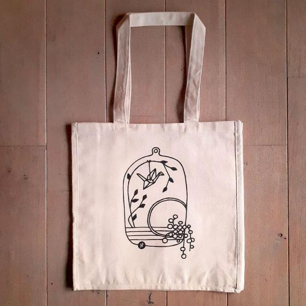 Co-création illustration Tote Bag Terrarium par GL COCRÉA