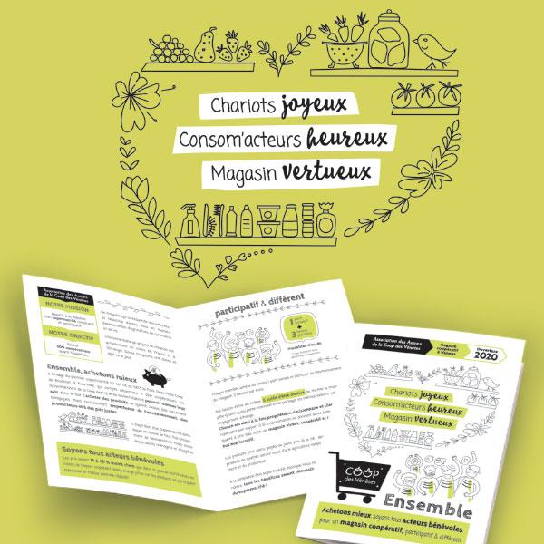 Charte graphique magasin participatif Coop des Vénètes par GL COCRÉA